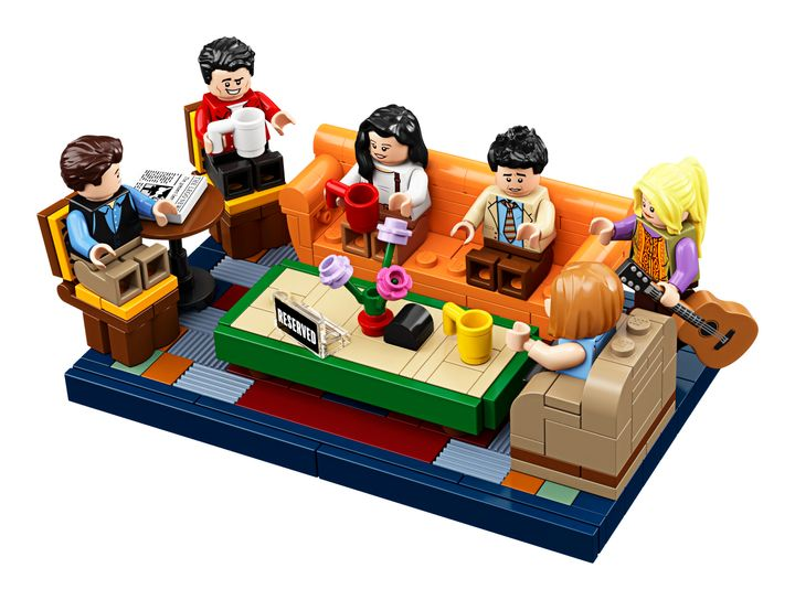 From left: Figures of Chandler, Joey, Monica, Ross, Phoebe and Rachel are included in the new Lego set.