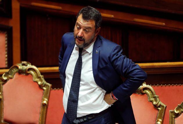 Matteo Salvini, en una reciente imagen en el Parlamento