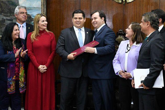 Davi Alcolumbre recebeu texto da reforma da Previdência de Rodrigo