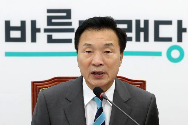 손학규 바른미래당 대표가 9일 오전 서울 여의도 국회에서 열린 제130차 최고위원회의에서 모두발언을 하고