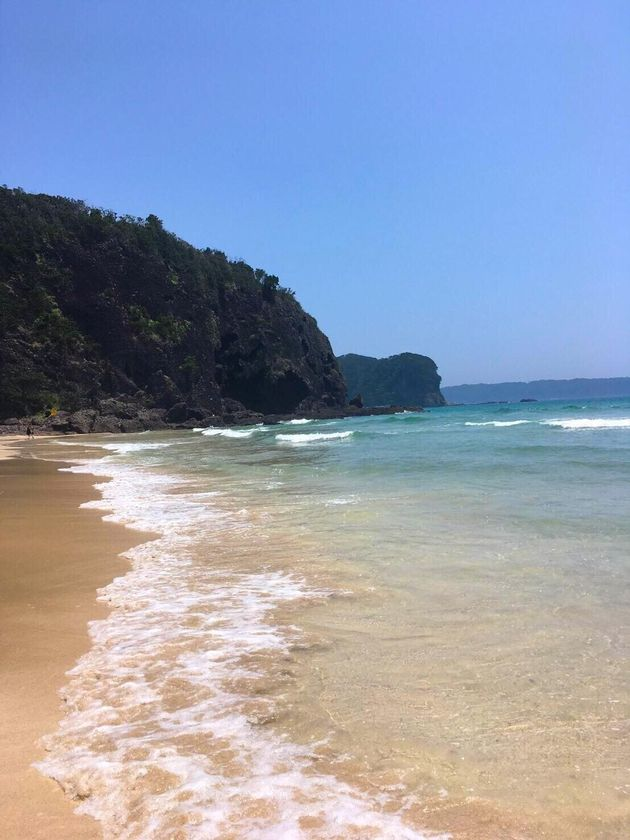 LAC伊豆下田から車で10分の砂浜