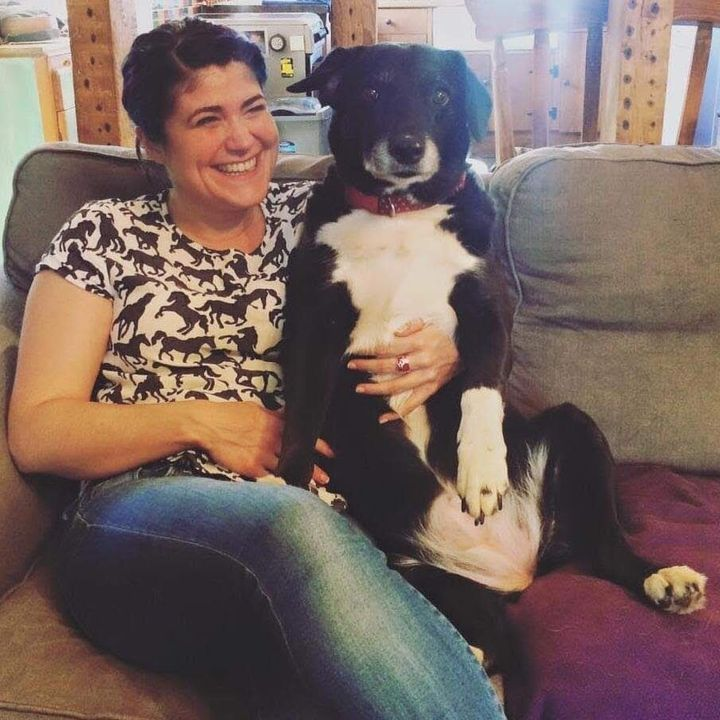 Dee Montague and her dog Ellie, who passed away earlier this year.