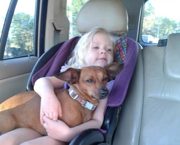 Dina Zirlott's daughter and dog.