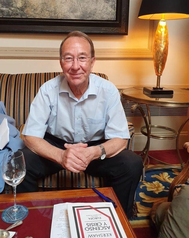 El historiador británico Ian Kershaw en Madrid en junio de 2019. /Fotografía de