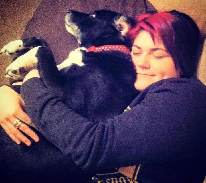 Dee and her loving pooch Ellie.