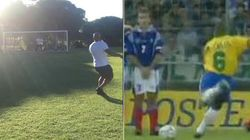 Roberto Carlos replica la punizione che nel 1997 stregò il mondo