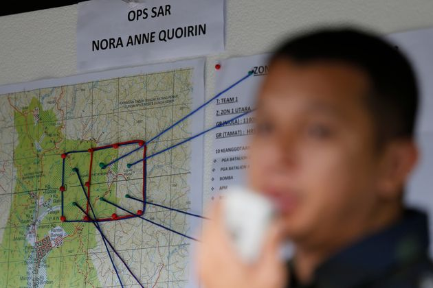 A map shows search and rescue zones for the missing schoolgirl in Seremban, Negeri