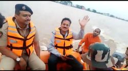 Flood Devastates Western Maharashtra But BJP Minister Busy Enjoying Boat
