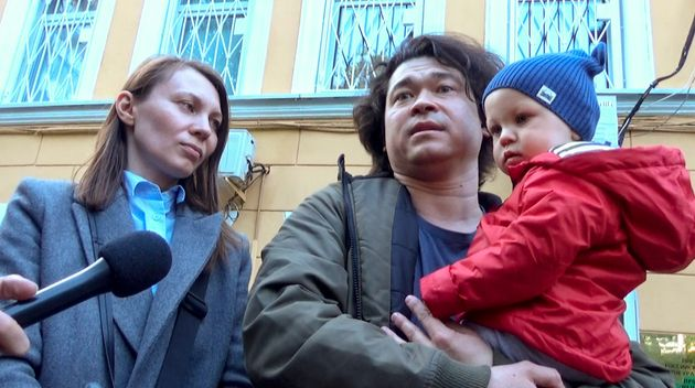 Dmitri and Olga Prokazov, parents of a one-year-old boy they face losing after joining the
