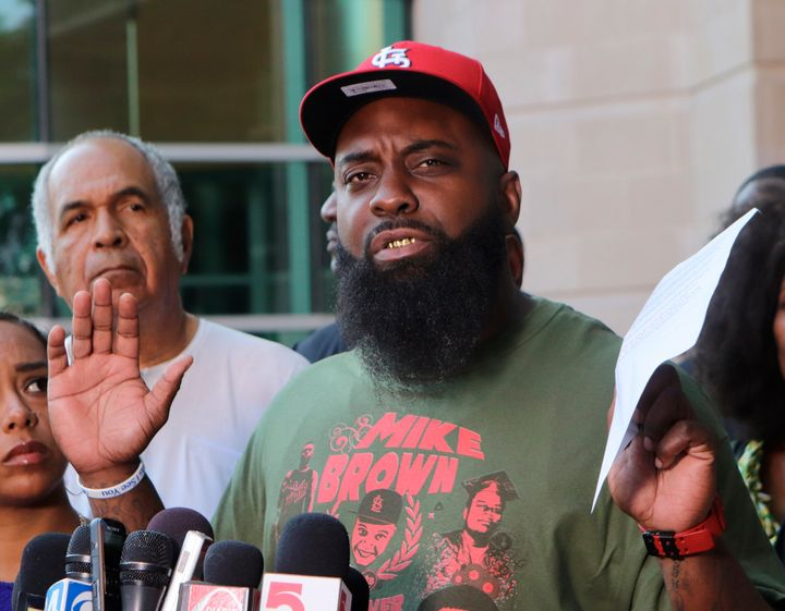 Michael Brown Sr. wants officials to reopen the case around his son's death five years ago.
