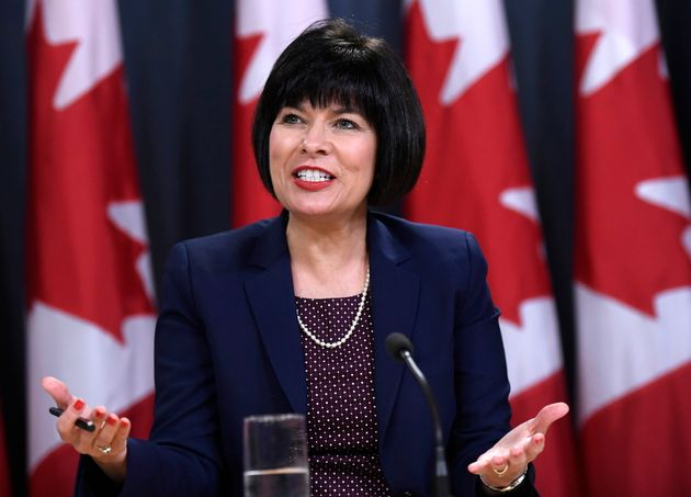Health Minister Ginette Petitpas Taylor speaks at a press conference in Ottawa on July...
