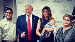 트럼프가 엘패소 총기난사 사건으로 부모 잃은 아이와 찍은 '기념사진'이