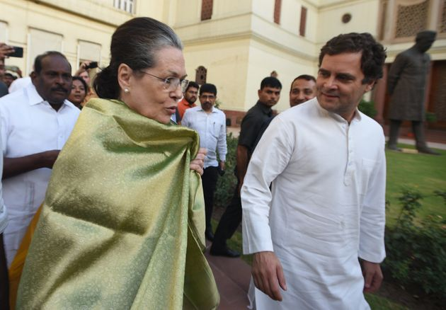 Sonia Gandhi and Rahul Gandhi in a file