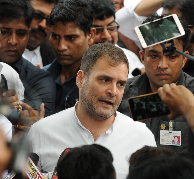 Rahul Gandhi in a file