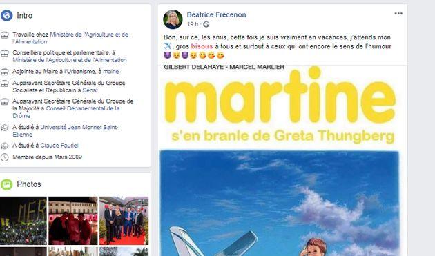 Une adjointe du ministre de l'Agriculture tacle Greta Thunberg en détournant
