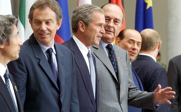 Les chefs des pays du G8 réunis au Palazzo Ducale de Gênes le 22 juillet