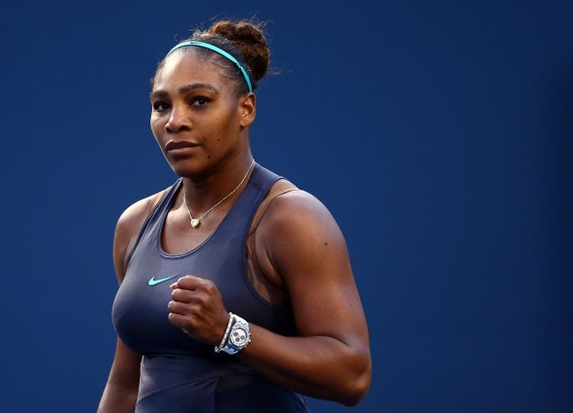 Serena Williams following a semifinal match on Day 8 of the Rogers Cup in Toronto on Aug. 9,