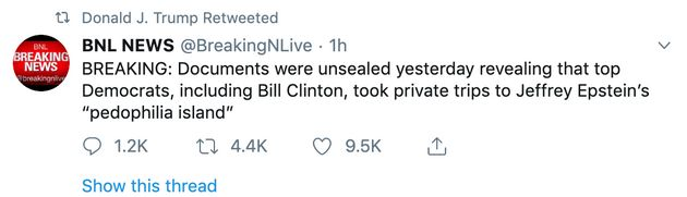 The court documents did not affirm that Clinton went to