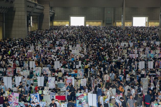 Visitors gather during the Comic Market (Comiket) 92 in Tokyo, Japan, 11 August 2017. Comiket is a biannual...