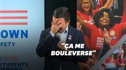 Cet candidat démocrate fond en larmes pendant un panel sur la violence