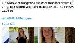 Se hace una foto para su vuelta al colegio y su madre descubre un peligro inadvertido: fíjate bien en el