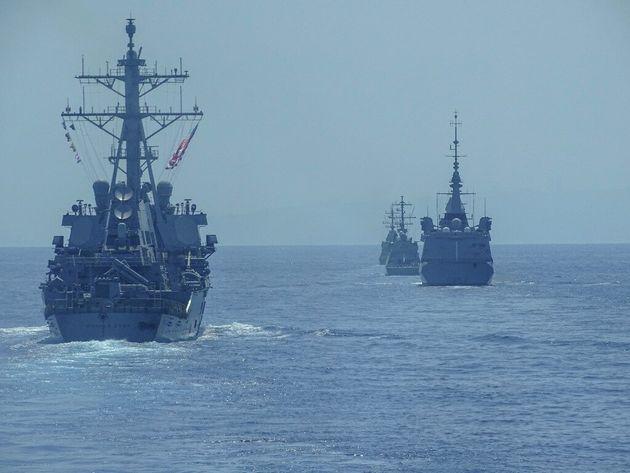 Mighty Waves 19: Κοινή ναυτική άσκηση Ελλάδας-Ισραήλ-ΗΠΑ-Γαλλίας στη νοτιοανατολική