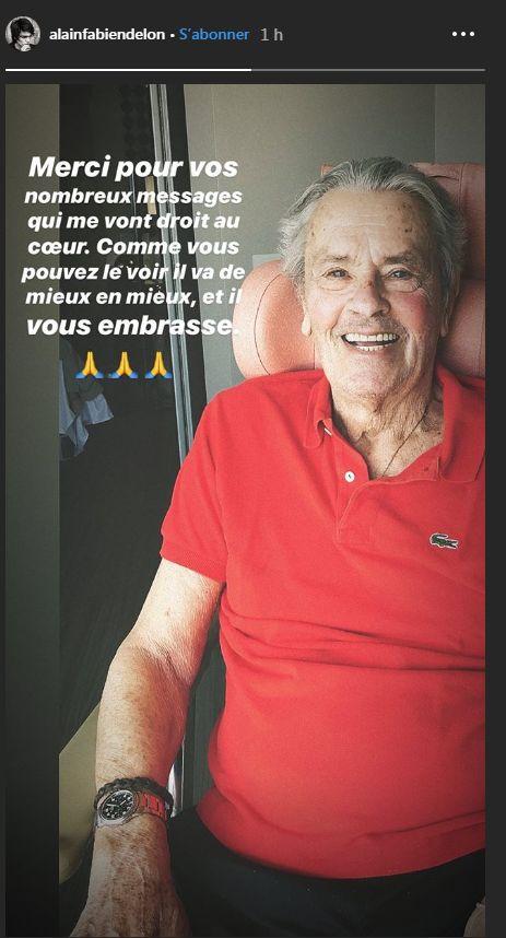 L'un des fils d'Alain Delon publie une photo de la star
