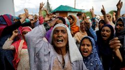 Hundreds Of Kashmiris Protested In Srinagar On The Eve Of Eid: