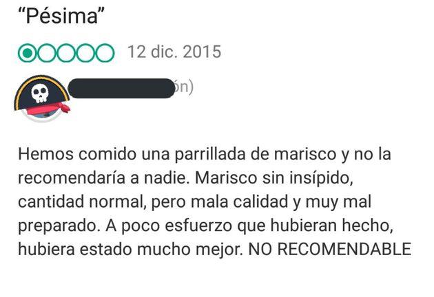 Un restaurante de Galicia desenmascara a este usuario de TripAdvisor al contar lo que pasó justo
