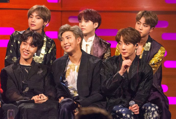 BTS on The Graham Norton Show earlier this year