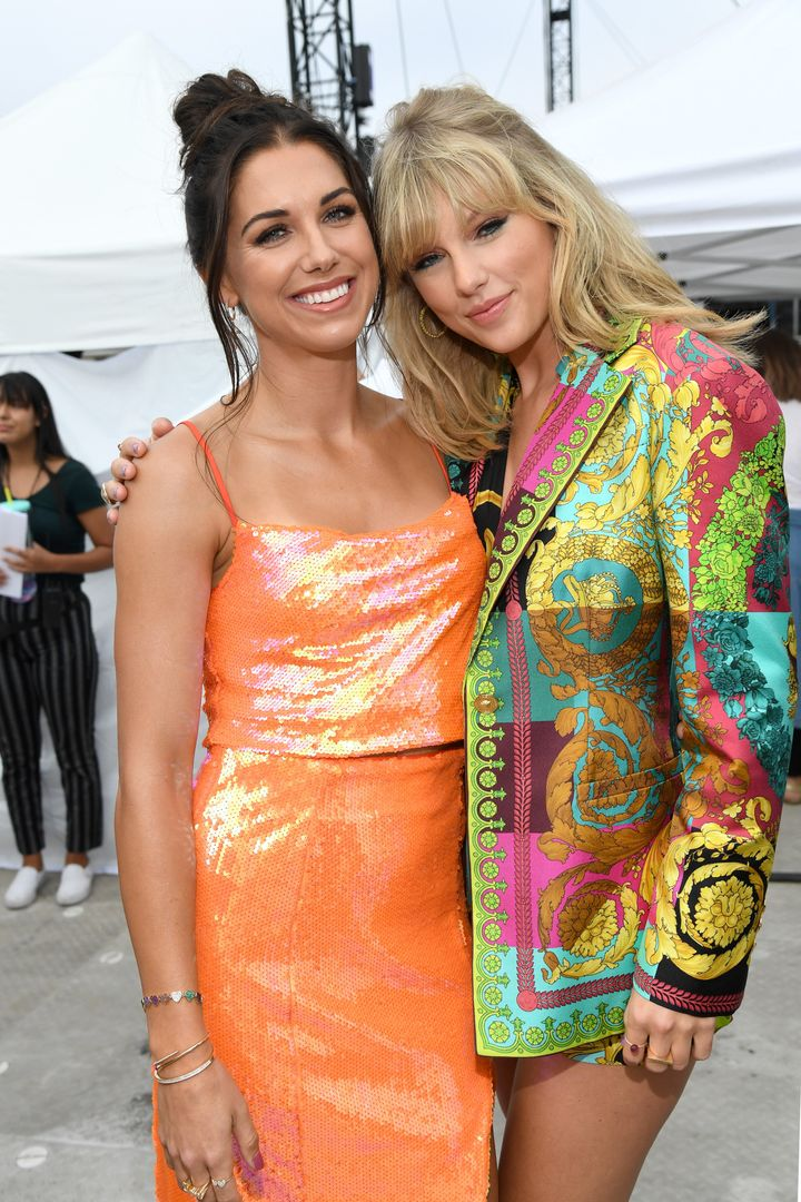 World Cup champ Alex Morgan and Taylor Swift at the Teen Choice Awards.