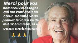La prima foto di Alain Delon dopo l'ictus.