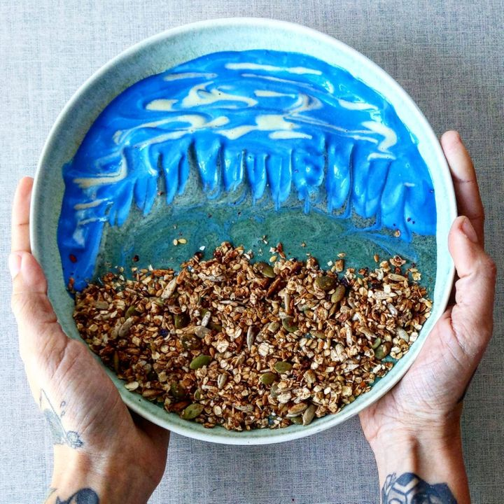 The breakfast bowl base.
