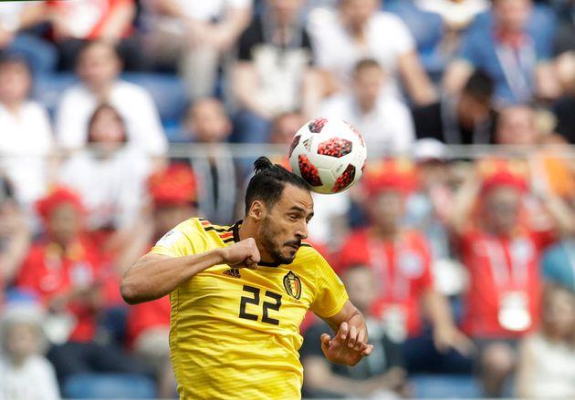 Nacer Chadli lors du match pour la troisième place entre l'Angleterre et la Belgique lors de la...