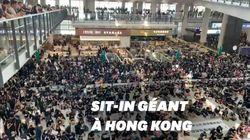 À l'aéroport de Hong Kong, les vols annulés à cause du sit-in
