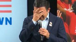 El candidato demócrata Andrew Yang rompe a llorar en un mitin tras esta