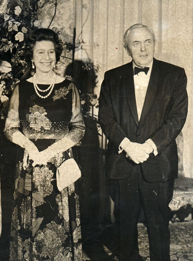 The Queen and Harold Wilson in
