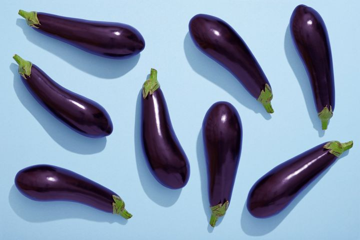 Eggplant, vegetable, Ripe, flat lay, healthy eating