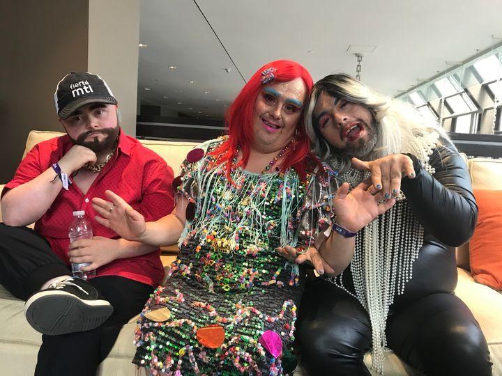 Justin Bond, Gaïa Callas et Horrora Shebang, de la troupe britannique Drag Syndrom