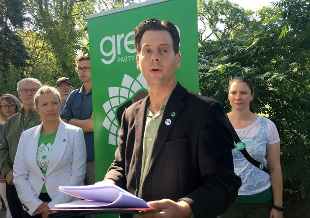 Manitoba Green Party Leader James Beddome releases his party's platform for the Manitoba election, in...