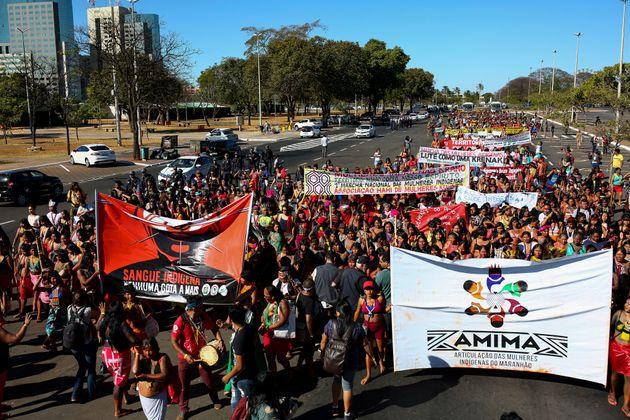 1ª Marcha das Mulheres Indígenas acontece deste o último dia 9, em Brasília.