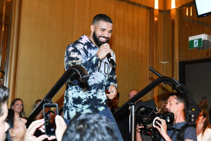 Drake at the Uninterrupted Canada launch on Aug. 2, 2019.
