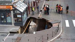 À Amiens, un trou de 10 mètres de large se forme juste devant une