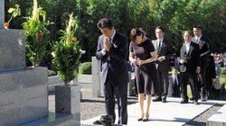安倍首相、山口に帰省 父の墓前で改憲誓い参院選の結果も報告