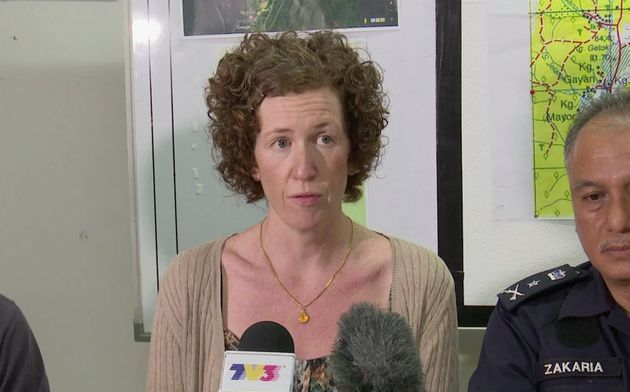 Nora's mother,Meabh Quoirin, during a press