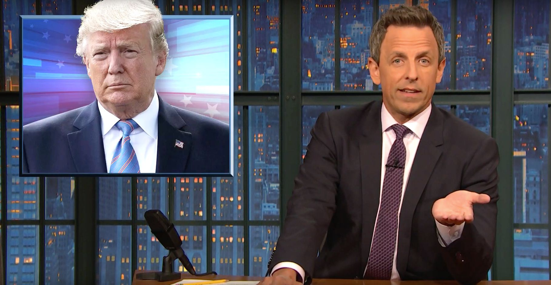 Seth Meyers: Trump Has 'Always Been A Conspiracy Theorist'