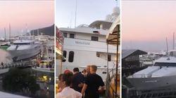 Yacht senza controllo si schianta sul molo. Paura tra i turisti