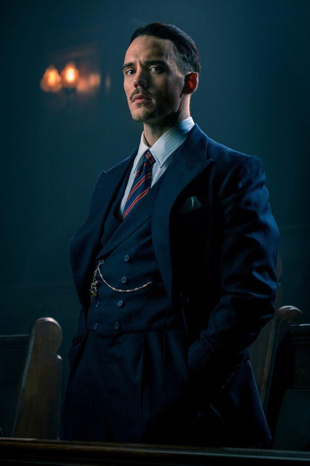 Sam Claflin as fascist politician Sir Oswald