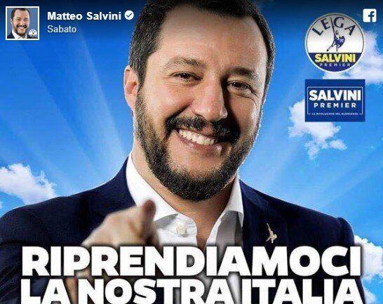 """Salvini bifronte: """"santino"""" sui social, ma fa morire donne e bambini in"""
