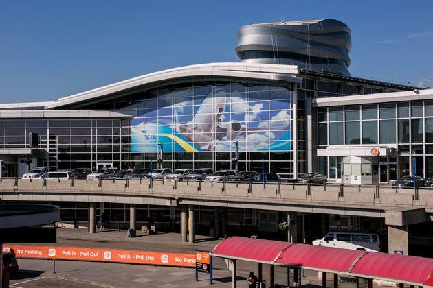 The main terminal at Edmonton International Airport, July 1,